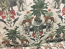 "Tropical Safari Velvet 140cm/54"" Curtain"