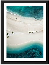 Tropical Sandbar - Framed Print & Mount, 51 x