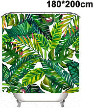 Tropical Shower Curtain, Banana Green Palm Leaf