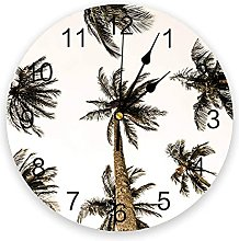 Tropical Silent Non Ticking Wall Clock, Battery