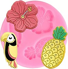 Tropical Theme Hibiscus Toucan Pineapple Silicone
