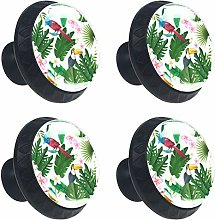 Tropical Toucan Green Drawer Knob Pull Handle