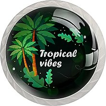 Tropical Vibes- 4PCS Round Shape Cabinet Knobs for