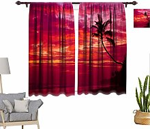Tropical Window Curtains, Beautiful Tropical
