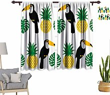 Tropical Window Curtains, Tropical Pattern with