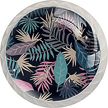 Tropical with Palm Leaves, 4-Pack of ABS Resin