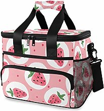 TropicalLife Cooler Bag Pink Cute Strawberry