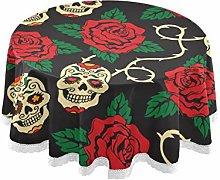 TropicalLife FELIZM Round Tablecloth Sugar Skull