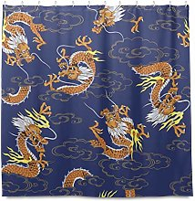 TropicalLife HaJie Bathroom Shower Curtain Chinese