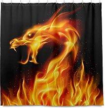 TropicalLife HaJie Bathroom Shower Curtain Fire
