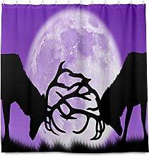 TropicalLife HaJie Bathroom Shower Curtain Moon