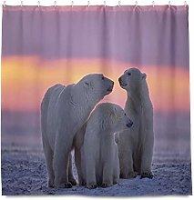 TropicalLife HaJie Bathroom Shower Curtain Polar