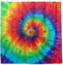 TropicalLife HaJie Bathroom Shower Curtain Rainbow