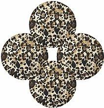TropicalLife HaJie Leopard Animal Print Placemats