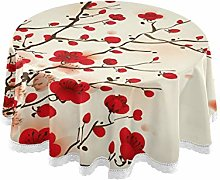TropicalLife HaJie Tablecloth Floral Cherry
