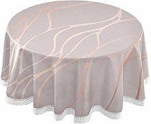 TropicalLife HaJie Tablecloth Rose Gold Marble