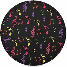 TropicalLife Irud Placemats Set Colorful Music