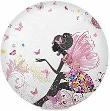 TropicalLife Irud Placemats Set Flower Fairy Girl