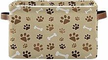 TropicalLife JNlover Animal Dog Paw Print Square