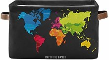TropicalLife JNlover Colorful World Map Square