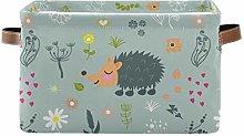 TropicalLife JNlover Cute Hedgehog Flowers Square