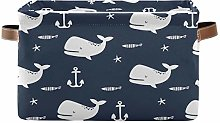TropicalLife JNlover Cute Whale Anchor Pattern