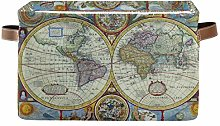 TropicalLife JNlover Vintage World Map Square