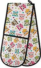 TropicalLife LUCKYEAH Colorful Bird Owl Polka Dot