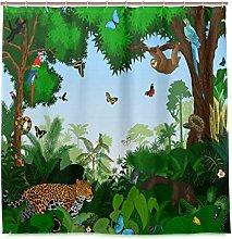 TropicalLife LUCKYEAH Leopard Sloth Parrot Jungle
