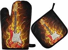 TropicalLife LUCKYEAH Music Guitar Fire Oven Mitt