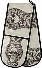 TropicalLife LUCKYEAH Owl Holding Skull Double