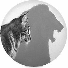 TropicalLife LUCKYEAH Place Mats Animal Cat Lion