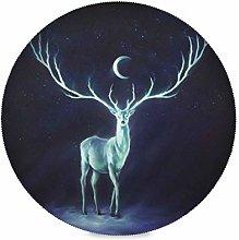 TropicalLife LUCKYEAH Place Mats Animal Deer Moon