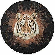 TropicalLife LUCKYEAH Place Mats Animal Tiger Head