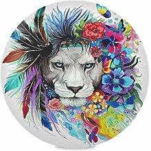TropicalLife LUCKYEAH Place Mats Art Lion Feather