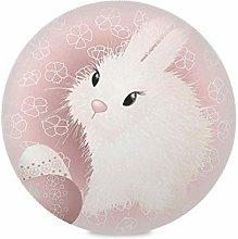 TropicalLife LUCKYEAH Place Mats Easter Rabbit Egg