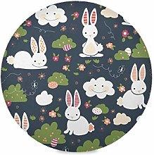 TropicalLife LUCKYEAH Place Mats Easter Rabbit