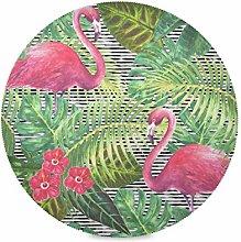 TropicalLife LUCKYEAH Place Mats Flamingo Flower