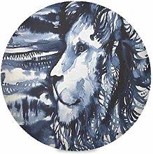 TropicalLife LUCKYEAH Place Mats Lion Forest Art