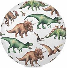 TropicalLife LUCKYEAH Place Mats Vintage Dinosaur