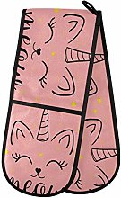 TropicalLife OOWOW Double Oven Glove Cute Pink