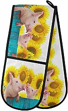 TropicalLife OOWOW Double Oven Glove Farm Funny