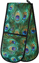 TropicalLife OOWOW Double Oven Glove Peacock