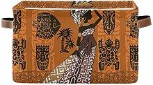 TropicalLife OOWOW Storage Basket Bin Black Woman