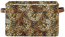 TropicalLife OOWOW Storage Basket Bin Leopard