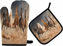 TropicalLife Oven Gloves and Pot Holders Set