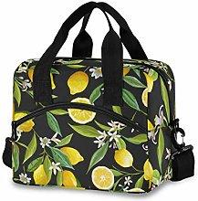 TropicalLife Reusable Insulated Lunch Bag Lemon
