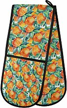 Tropicallife RULYY Double Oven Mitts Orange Leaves