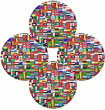 TropicalLife Rulyy Round Place Mats World Flag