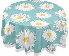TropicalLife Rulyy Tablecloth Floral Daisy Flower